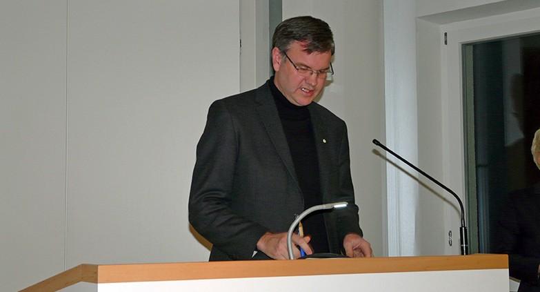 Vortrag von Prof. Dr. Rudolf von Sinner © Jahnel, MEW