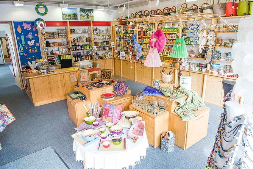 Sortimentvielfalt im Weltladen Neuendettelsau