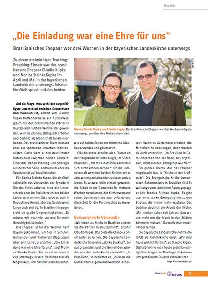 Interview mit Ehepaar Steinke-Kupka, Teaching Preaching-Gäste