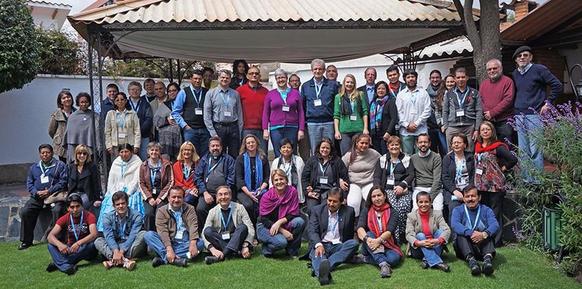 Teilnehmende an der Konferenz der Kirchenleitungen der lutherischen Kirchen Lateinamerikas. © MEW/Zeller