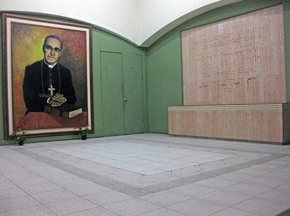 Gedenkstätte in der Kathedrale von San Salvador
