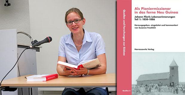 Dr. Susanne Froehlich bei der Buchvorstellung in Neuendettelsau © privat