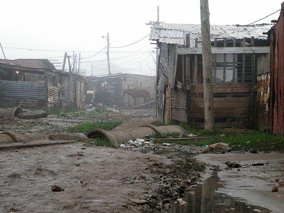 Slumgebiet in Argentinien