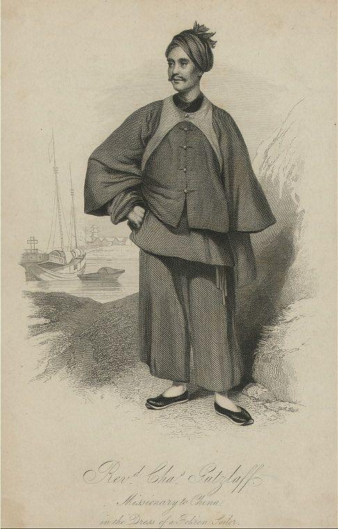 Gemälde des Missionars Karl Gützlaff © Lizenziert unter Public domain über Wikimedia Commons