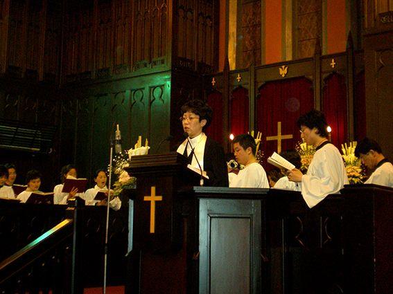 Gottesdienst mit Predigt in der Mekong-Region Chinas