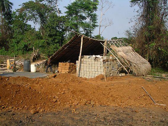 Hausbau, Liberia