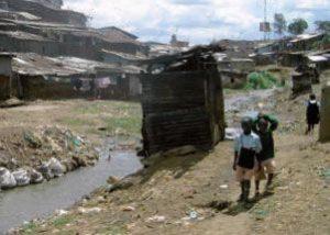 Slumgebiet in Kenia