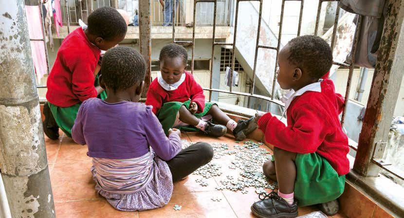 Mädchen im PLCC in Kenia