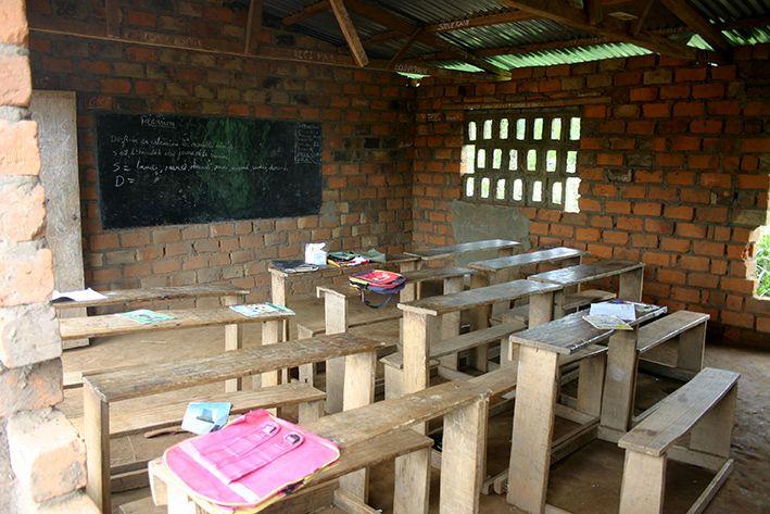 Blick ins Klassenzimmer im Kongo