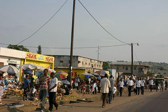 Auf dem Markt im Kongo