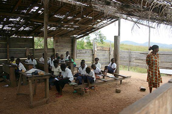 Unterricht im Kongo