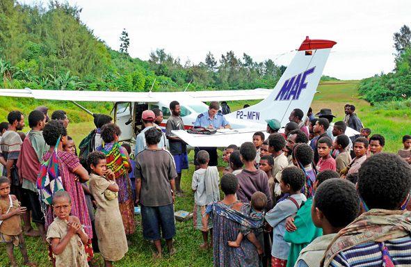 MAF-Flieger in Papua-Neuguinea
