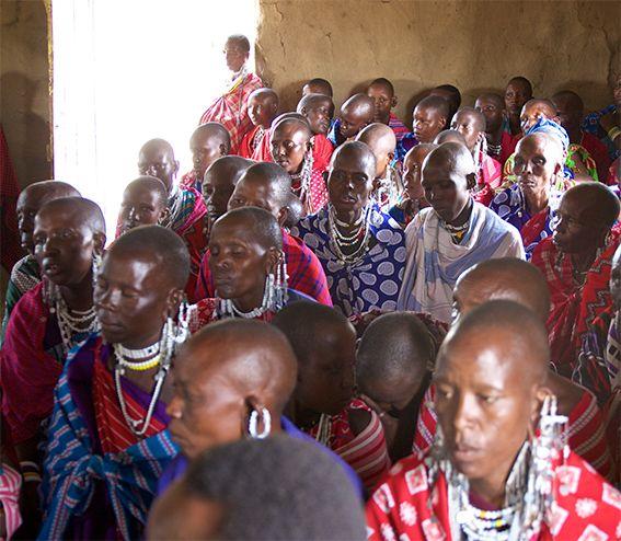 Maasai-Gottesdienst Engutukoiti