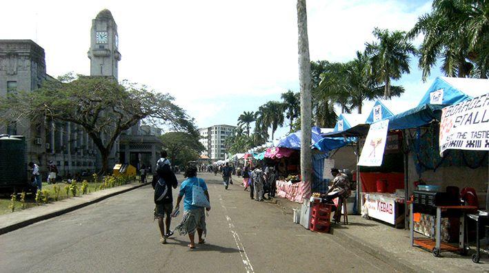 Straßenleben Suva, Fidschi