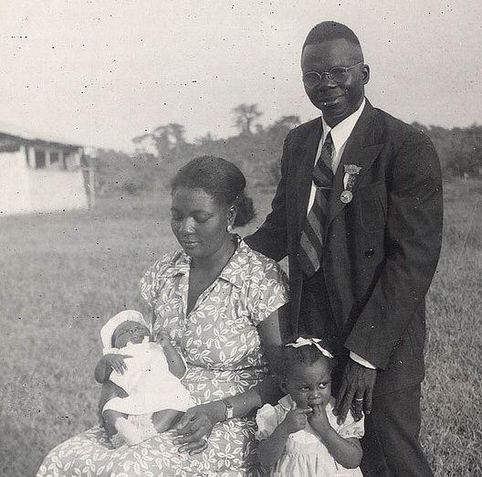 Ezra D. Keller, erster Liberianer Präsident der LCL, mit seiner Familie