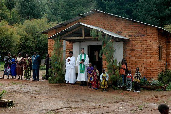 Gottesdienst im suedlichen Hochland Tansanias