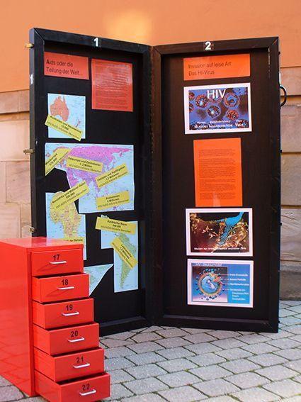 Ausstellungselement der AIDS-Ausstellung