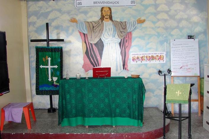 Gottesdienstraum in Santa Cruz, Honduras