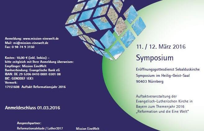 Auftaktveranstaltung 2015: Glaube, der die Welt verwandelt in Nürnberg