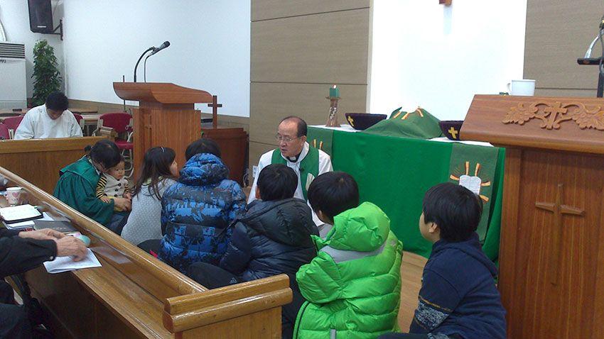 Gottesdienst in Korea mit Abendmahl