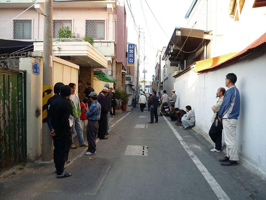 Straßengeschehen in Korea