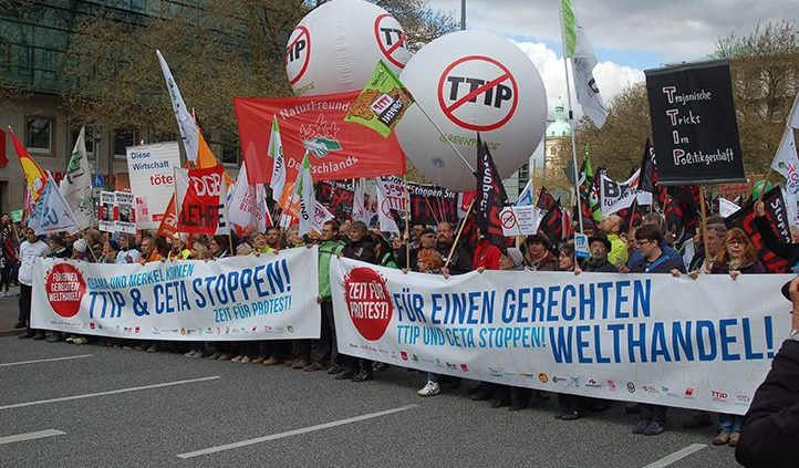 Demonstration gegen TTIP am 23. April 2016 in Hannover