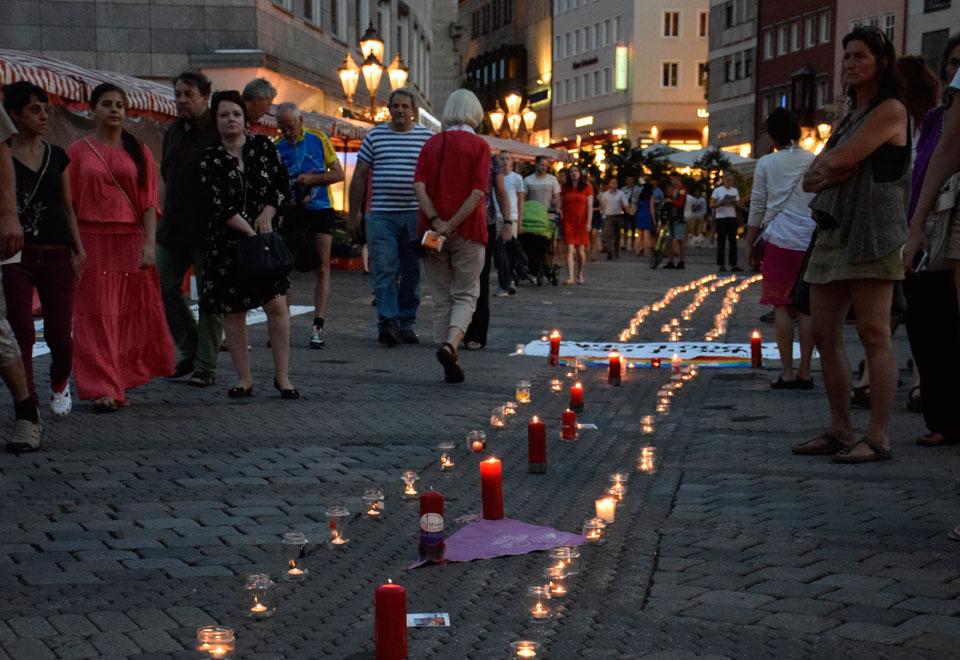 Hiroshima Gedenktag 2015 in Nürnberg