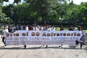 Anlass des Friedensmarsches ist das 30. Bischofsfest der lutherischen Kirche von El Salvador. @ Schlicker / MEW