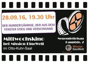 Plakat Mittwochskino September 2016