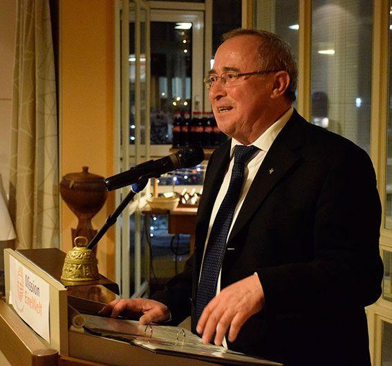 Manfred Scheckenbach bedankte sich bei seiner Verabschiedung. ©MEW/Neuschwander-Lutz