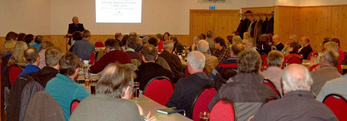 Infoabend zum Thema Markt- und Landwirtschaft mit Dr. Heiner Fassbeck in Herrieden © MEW / Angela Müller