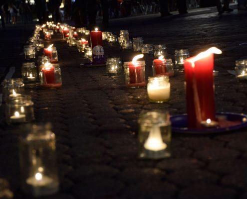 Kerzen zum Gedenken