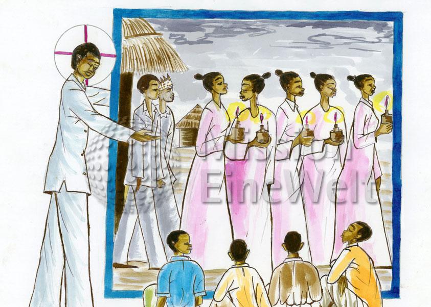 Das Gleichnis von den 10 klugen Jungfrauen (Matthäus 25, 1 – 13)
