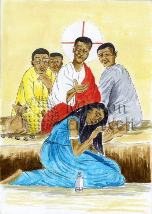 Maria Magdalena salbt Jesus (Johannes 12, 1 – 8)