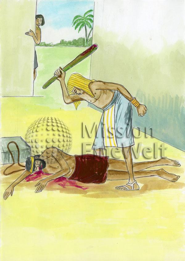 Moses flieht aus Ägypten (Exodus 2, 11 – 4,31)