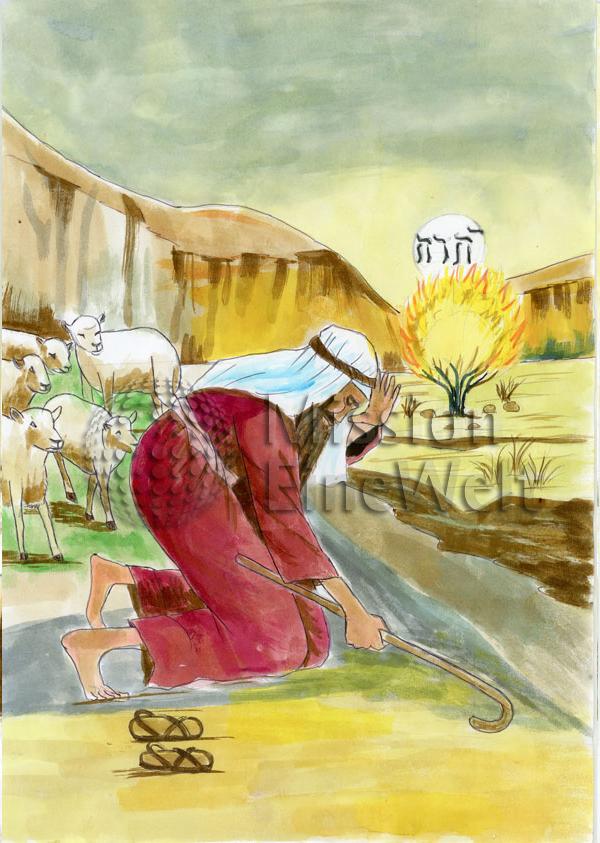 Der brennende Dornbusch (Exodus 3, 2 – 8)