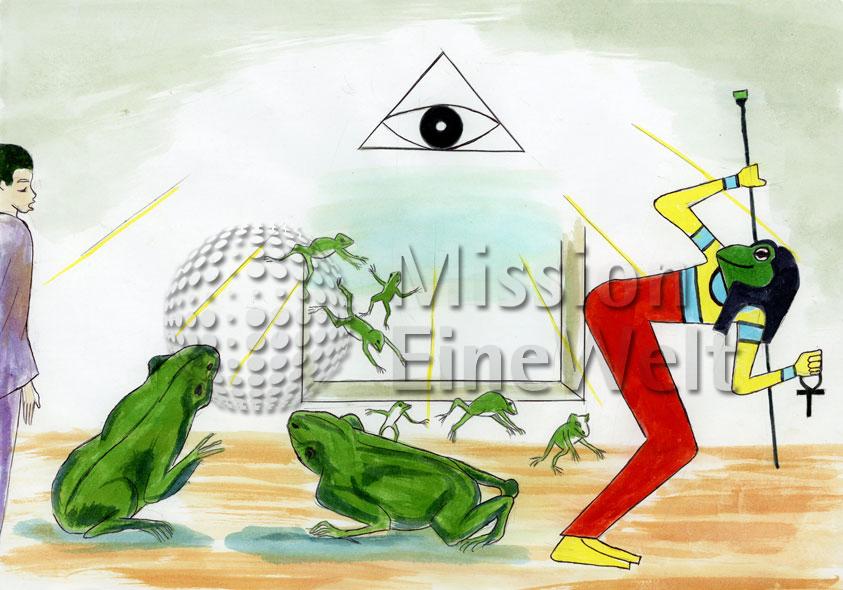 Die zehn Plagen (Exodus 7 – 11,10) Die zweite Plage: Frösche