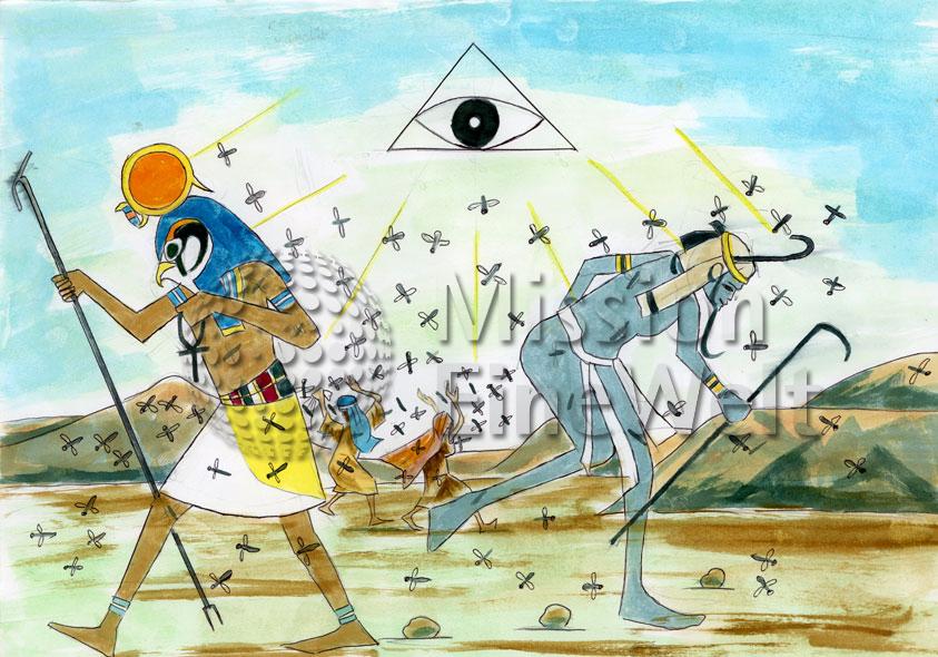 Die zehn Plagen (Exodus 7 – 11,10) Die dritte Plage: Stechmücken