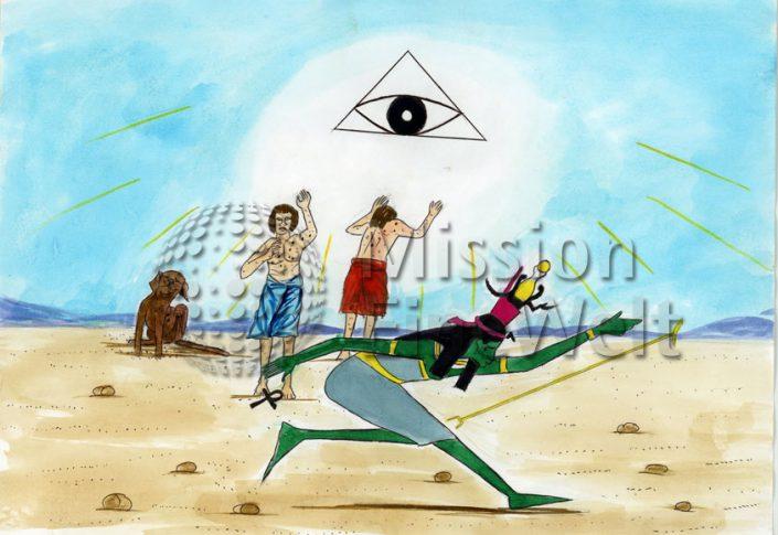 Die zehn Plagen (Exodus 7 – 11,10) Die vierte Plage: Stechfliegen