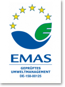 EMAS - geprüftes Umweltmanagement Zertifikat