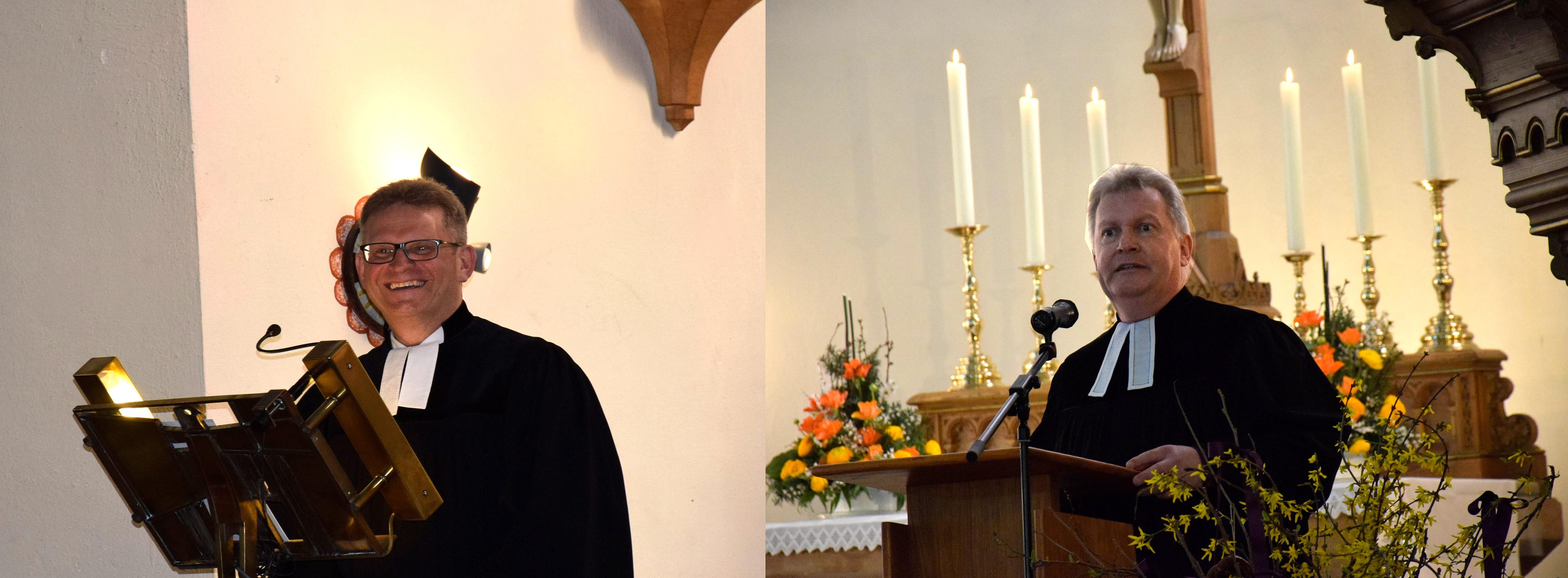 Thomas Paulsteiner und Arnim Doerfer wurden im Gottesdienst am 7. April in der Nikolai-Kirche in Neuendettelsau in ihre Ämter eingeführt.