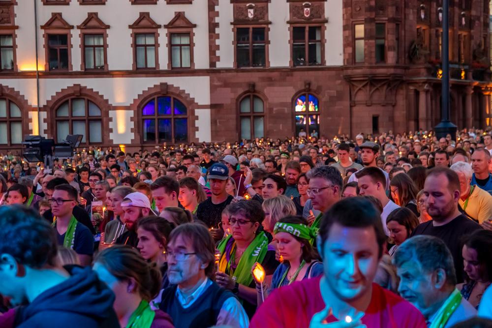 Andacht und Abendsegen nach dem Konzert am Friedensplatz