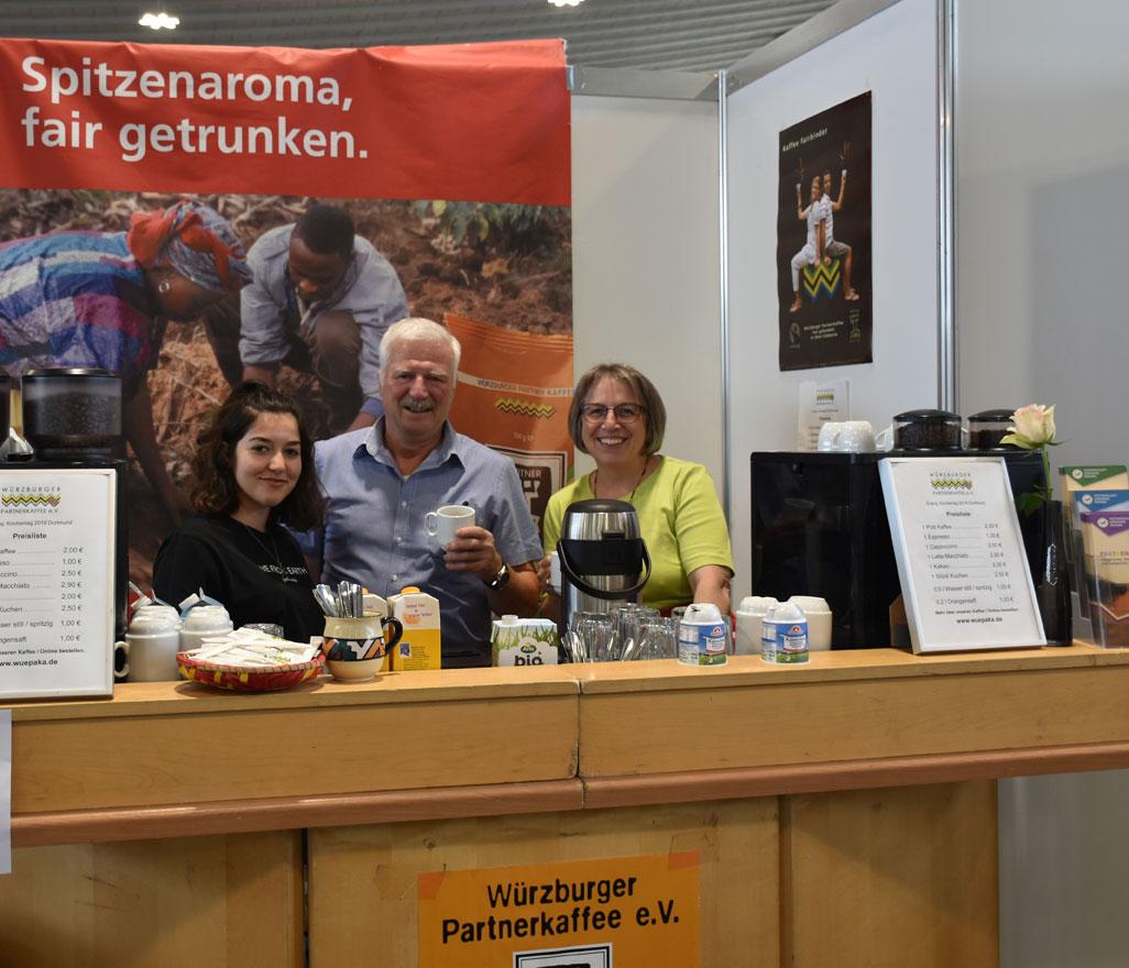 Das Würzburger Partnerkaffee versorgte die Gäste mit Kaffeespezialitäten