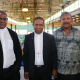 Wiedergewählt: Lucas Kedabing, Jack Urame, Bernard Kaisom (v.l.n.r.) Foto: Kimberly Sep